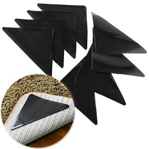 8x REUSABLE RUG GRIPPERS Self Adhesive Sticky Pads Anti Slip/Trip Mat Carpet