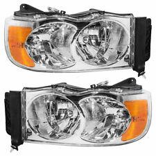 New Depo Driver /& Passenger Side Headlight Set For 2002-2005 Dodge Ram