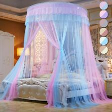 Double Colors Hung  Mosquito Net Princess Bed Tent Curtain Foldable Canopy Bed
