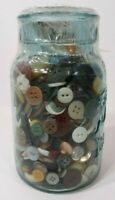 Ball Mason Jar Filled With Vintage Sewing Buttons