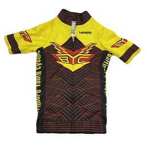 Verge Women's Core Fitted Cycling Jersey Black/Yellow Red Sz XS Baltimore Youth