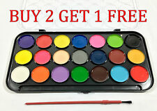 Watercolor 21 Color Set Paint Painting Paper Craft Accenting Water color  Brush
