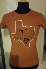 Texas State University Longhorns Sparkly Ladies M TShirt Gildan Performance NCAA