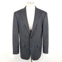 Hugo Boss Tweed Sakko Maxwell Herren Gr. 52 Grau Meliert Wolle Seide Stretch