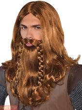 Amscan International Adults Nordic Wig - Fancy Dress Viking Warrior Costume