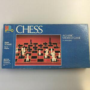 Vintage 1982 Milton Bradley Chess Board Game Springfield, MA USA Complete