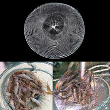 Folding Round Metal Frame Nylon Mesh Crab Crawdad Shrimp White Shrimp net Bait``