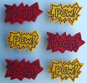 POW! BOOM! - Comic Book Strip Words Superhero Novelty Dress It Up Craft Buttons