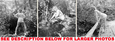 MARILYN MONROE 1950 at24 IN THE WOODS 3xRARE5X7 PHOTOS