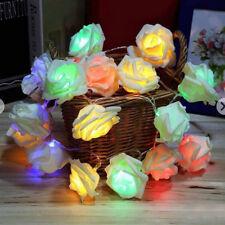 2,2 M 20 LED Simulation Von Rosen Blumen String Lichterketten Dekoration Kette