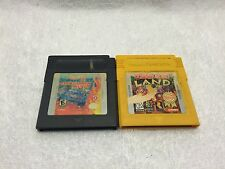 2 Nintendo GameBoy Games Donkey Kong Land & Hot Wheels Stunt Track Used
