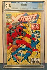 X-FORCE 11 CGC 9.4 WP 1ST REAL DOMINO + 3RD FULL DEADPOOL APP. SLICE/DICE COVER