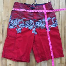 Gotcha Red Swim Board Shorts Small