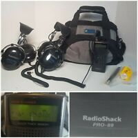 Radioshack Handheld Race Scanner Pro-89 200 Channel 2x Racing Headphones and bag