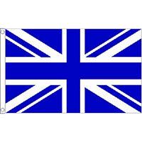 Union Jack Royal Blue & White Large Flag 8Ft X 5Ft Chelsea Football Banner New