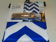New Fabric Shower Curtain Set With 12 Roller Ball Hooks - 100% Polyester (Cf-4)