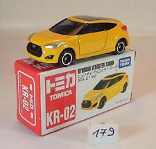 Tomy Tomica 1/60 Nr. KR-02 Hyundai Veloster Turbo Limousine gelb OVP #179