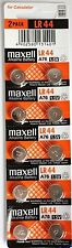 10 pcs Maxell LR44 coin cell button battery A76 303 SR44 357 AG13 exp. 12-2021