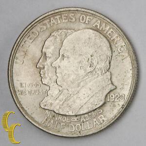 1923-S James Monroe Doctrine Commemorative Silver Half Dollar (AU) Condition