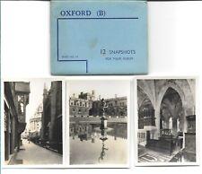WALTER SCOTT'S SNAPSHOTS  of OXFORD (B) -12 B&W  Views VINTAGE (COMPLETE SET)