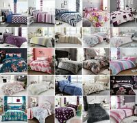 Double Duvet Cover With Pillow Cases Quilt Cover Bedroom Bedding Set New Designs