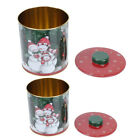 2PCS Packing Iron Box Delicate Wrapping Containers Wedding Candy Boxes with Lid