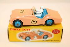 Dinky Toys 111 Triumph TR2 Sports mint condition in very near mint box SUPERB