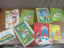 8 ALBUMS A COLORIER ANCIENS ed WILLEB BIAS Etc.. 1950-1960