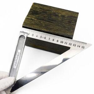 150mm Aluminum Carpenter Measuring Square Speed Triangle Ruler Protractor Miter