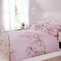 Pink Blush Bedding Floral Blossom Bird Duvet Cover Quilt Cover Set Bed Linen