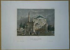 1844 Meyer print SULTAN SELIM'S MOSQUE, ISTANBUL, TURKEY (#20)