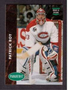 1991-92 PARKHURST CANADIAN # 442 PATRICK ROY !!