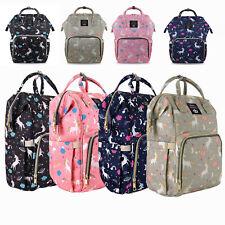 Mummy Diaper Bag Maternity Baby Nappy Backpack Waterproof Free Get Stroller Hook