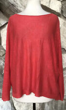 EILEEN FISHER Women's Oversize 100% Linen Knit Dolman Sleeve Pullover Sweater S