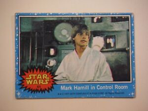 Star Wars Series 1 (Blue) Topps 1977 Trading Card # 61 Mark Hamill In Control