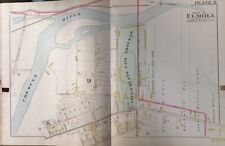 1896 A.H. MUELLER, ELMIRA, NY, INTER-STATE FAIR GROUNDS, COPY PLAT ATLAS MAP