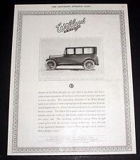 1919 OLD MAGAZINE PRINT AD, WILLYS KNIGHT, SLEEVE VALVE MOTOR, 7 PASSENGER CAR!