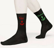Port Starboard Novelty Men's Socks Captain Crew Boat Fathers Day Birthday Gift