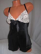 Victoria's Secret Lingerie Babydoll Bodysuit Teddy Romper Satin Lace Slip S/P