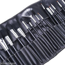 SET 24 PENNELLI PER TRUCCO COSMETICA MAKE UP OMBRETTO FARD CON CUSTODIA BORSA