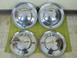 """1953 Plymouth HUB CAPS 15"""" Set of 4 Wheel Covers Hubcaps 53"""