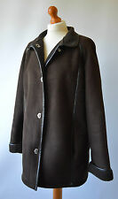 Ladies Liz Claiborne Brown Faux Suede Faux Sheepskin Jacket / Coat Size L