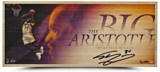 """SHAQUILLE O'NEAL Autographed Lakers """"Big Aristotle"""" Bamboo Print UDA LE 34"""