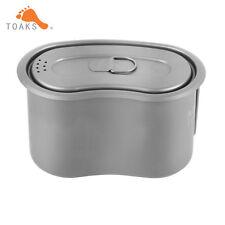 TOAKS 950ml Titanium Cup Titanium Military Lunch Box  Lid Camping  Military Pot
