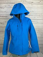 Spyder NWT Women's Quandary Insulated Ski Jacket Hooded Sz 10 Collegiate Blue