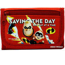 Disney Incredibles Authentic Licensed Canvas Trifold Red Wallet for Children