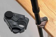 Walking Stick Cane or Crutch Holder - Clip On Table Rest Black