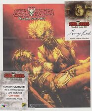 DEADWORLD TRADING CARDS GARY REED AUTOGRAPH FOLD OUT Z-CARD SDCC 2012 EXCLUSIVE