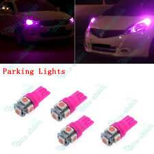 Pink T10 5050 LED Parking Lights Globe For Ford Falcon AU BA BF FG XR6 XR8 -4pc