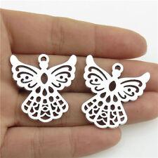 21208 12pcs Charms Vintage Silver Alloy Faith Dressed Girl Fairy Angel Pendant
